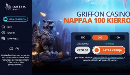 Griffon Casino bonus
