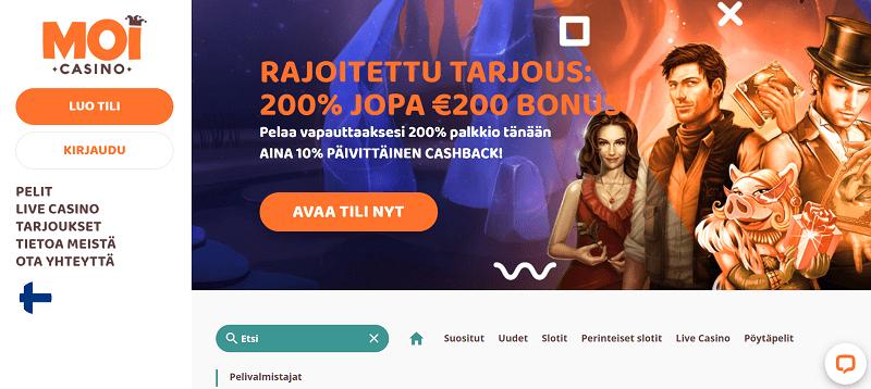 Moi Casino bonus