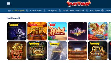 Playtoro Casino pelivalikoima