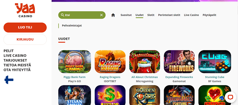 Yaa casino etusivu