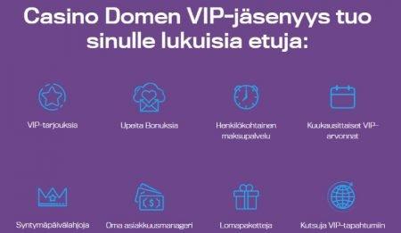 Casino Dome VIP jäsenyys