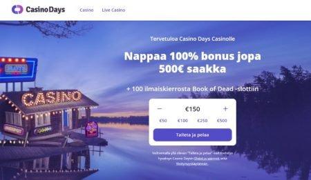 Casino Days etusivu