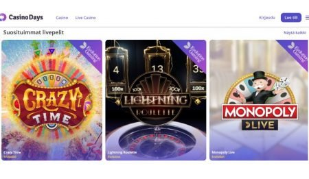 Casino Days livepelit