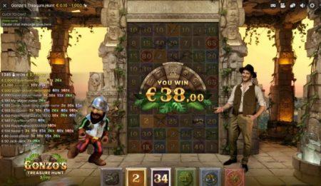 Gonzo's Treasure Hunt voitto