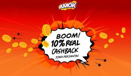 Amok Casino cashback