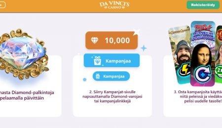 Da Vincis Casino Diamond-valuutta