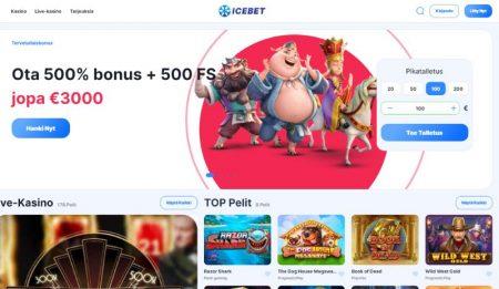 IceBet Casino etusivu