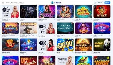 IceBet Casino kolikkopelit