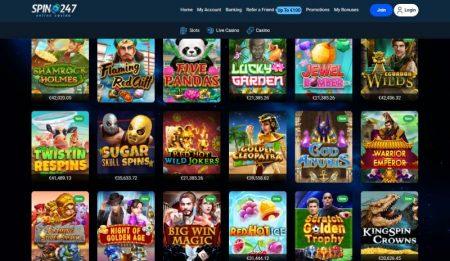 Spin247 Casino kolikkopelit